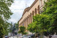 Tbilisi, Geórgia - 7 de maio de 2017: Construção velha do parlamento em Rus Fotografia de Stock Royalty Free