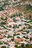 Tbilisi Georgia. Aerial View Of Residential District Of Old Town Stock Photos