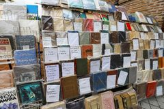 Books stall in the city of Tbilisi, Georgia royalty free stock photography
