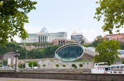 The Official residence of Georgian President. Tbilisi, Georgia -August 8, 2013: The Official residence of Georgian President and construction of the concert hall stock photos