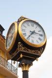 TBILISI, GEORGIA - AUGUST 5, 2013: Street clock in Tbilisi, capi Stock Photo