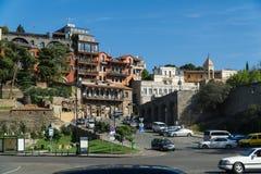 TBILISI, GEORGIA 25 DE SEPTIEMBRE DE 2016: Cuadrado de Europa en el centro de ciudad Foto de archivo