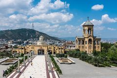 Sameba Cathedral, Tbilisi, Georgia, Europe royalty free stock images