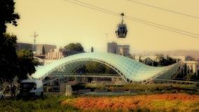 Tbilisi Georgia. Gruzia Bridge and City royalty free stock image