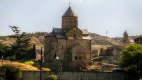 Tbilisi Georgia. Gruzia Metekhi from Peski royalty free stock photos