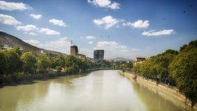 Tbilisi Georgia. Gruzia View over Kura river royalty free stock images