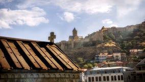Tbilisi Georgia. Gruzia View to Narikala Fortress royalty free stock photography