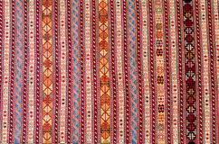 TBILISI, GEORGIA, MARCH 2017: - Colorful carpet with With beauti. Ful abstract drawings, background, texture on the street in Tbilisi, Georgia Royalty Free Stock Photos
