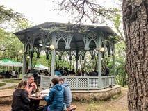TBILISI, GEORGIA - MAY 12, 2018: Festival of Georgian wine and winemaking in Mtatsminda Park on funicular in Tbilisi, Georgia.  royalty free stock image