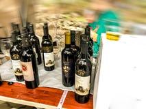 TBILISI, GEORGIA - MAY 12, 2018: Festival of Georgian wine and winemaking in Mtatsminda Park on funicular in Tbilisi Blure effect. TBILISI, GEORGIA - MAY 12 stock photos