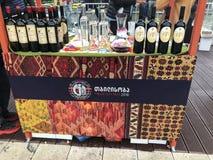 TBILISI, GEORGIA - OCTOBER 07, 2018: Annual holiday `Tbilisoba`. Georgian wine presentation.  royalty free stock photography