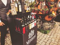 TBILISI, GEORGIA - OCTOBER 07, 2018: Annual holiday `Tbilisoba`. Georgian wine presentation.  royalty free stock photos