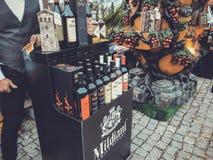 TBILISI, GEORGIA - OCTOBER 07, 2018: Annual holiday `Tbilisoba`. Georgian wine presentation.  stock photo