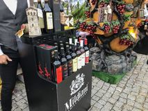 TBILISI, GEORGIA - OCTOBER 07, 2018: Annual holiday `Tbilisoba`. Georgian wine presentation.  royalty free stock image