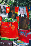 Tbilisi, Georgia - 08 October, 2016: Dry Bridge Flea market in Tbilisi sells a portrait of Joseph Stalin, Georgia. Stock Photo
