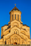 Tbilisi, Georgia - 8 October 2016: Main view Tbilisi Sameba Cathedral Holy Trinity biggest Orthodox Cathedral in Stock Image