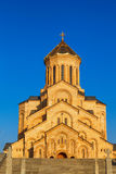 Tbilisi, Georgia - 8 October 2016: Main view Tbilisi Sameba Cathedral Holy Trinity biggest Orthodox Cathedral in Royalty Free Stock Photo