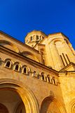 Tbilisi, Georgia - 8 October 2016: Tbilisi Sameba Cathedral Holy Trinity biggest Orthodox Cathedral in Georgia and Stock Photos