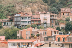 Tbilisi, Georgia. Residential District Of Old Town Royalty Free Stock Image