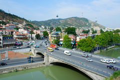 Tbilisi, Georgia - September 11, 2014: View of the old town. Tsi Stock Images