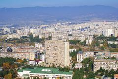 Tbilisi, Georgia. View on the old communist building blocks in one of the city districts stock photo