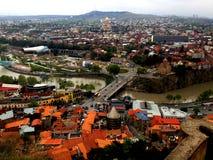 Tbilisi, Georgia, vista della città Fotografia Stock Libera da Diritti
