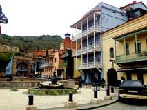 Tbilisi, Georgia, vista della città Fotografie Stock