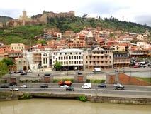 Tbilisi, Georgia, vista della città Immagini Stock Libere da Diritti