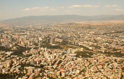 Tbilisi. Georgian: თბილისი [tʰˈbiliˌsi]  listen, commonly known by its former name Tiflis, and often mispronounced as Tiblisi, is the capital Stock Image