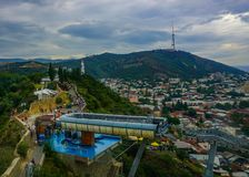 Tbilisi Gondola Mother Georgia Cityscape stock photography