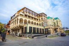 13 04 2018 Tbilisi, Gruzja - architektura stary Tbilisi, Exter Zdjęcie Stock