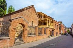 13 04 2018 Tbilisi, Gruzja - architektura stary Tbilisi, Exter Fotografia Royalty Free