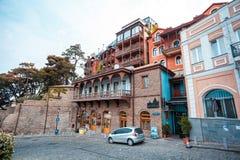 13 04 2018 Tbilisi, Gruzja - architektura stary Tbilisi, Exter Fotografia Stock