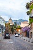 13 04 2018 Tbilisi, Gruzja - architektura stary Tbilisi, Exter Obrazy Royalty Free
