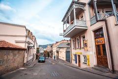 13 04 2018 Tbilisi, Gruzja - architektura stary Tbilisi, Exter Obraz Stock