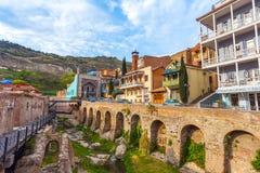 13 04 2018 Tbilisi, Gruzja - architektura Stary miasteczko Tb Zdjęcie Stock