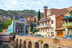 13 04 2018 Tbilisi, Gruzja - architektura Stary miasteczko Tb Fotografia Stock