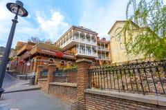 13 04 2018 Tbilisi, Gruzja - architektura Stary miasteczko Tb Obraz Royalty Free