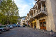 13 04 2018 Tbilisi, Gruzja - architektura Stary miasteczko Tb Zdjęcie Royalty Free