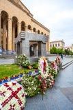Tbilisi, Gruzja 13 04 2018 - 9 Kwietnia pomnik i budynek Obrazy Royalty Free