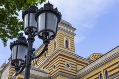 TBILISI GRUZJA, MAJ, - 07: Powierzchowność odnawiący Tbilisi Sta Obrazy Stock