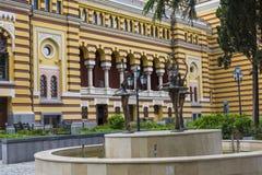TBILISI GRUZJA, MAJ, - 07: Powierzchowność odnawiący Tbilisi Sta Obraz Royalty Free