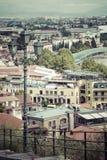 TBILISI GRUZJA, MAJ, - 07, 2016: Tbilisi centrum miasta widok z lotu ptaka Zdjęcia Royalty Free