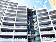 TBILISI GRUZJA, MARZEC, - 25, 2018: Budowa nowy wysoki mieszkaniowy budynek mieszkaniowy w Tbilisi, Gruzja Obraz Royalty Free
