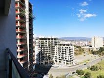 TBILISI GRUZJA, MARZEC, - 25, 2018: Budowa nowy wysoki mieszkaniowy budynek mieszkaniowy w Tbilisi, Gruzja Obrazy Royalty Free