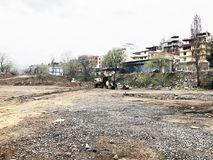 TBILISI GRUZJA, MARZEC, - 27, 2018: Budowa nowy wysoki mieszkaniowy budynek mieszkaniowy w Tbilisi, Gruzja Zdjęcie Stock
