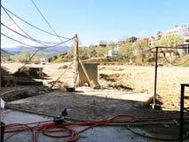 TBILISI GRUZJA, MARZEC, - 25, 2018: Widok na brudnej budowie w Tbilisi, Gruzja Fotografia Royalty Free