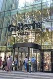 Tbilisi, Gruzja, Sierpień 24th 2018: Wejście «Galleria Tbilisi «centrum handlowe w Gruzja fotografia royalty free