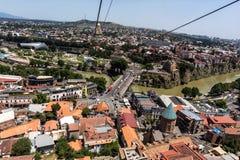 Tbilisi Gruzja turystyki piękny Stary Grodzki zwiedzać fotografia stock