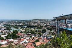 Tbilisi Gruzja turystyki piękny Stary Grodzki zwiedzać zdjęcie royalty free